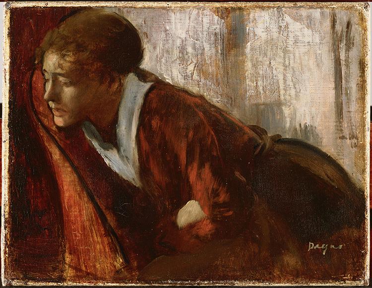Edgar Degas' painting, Melancholy